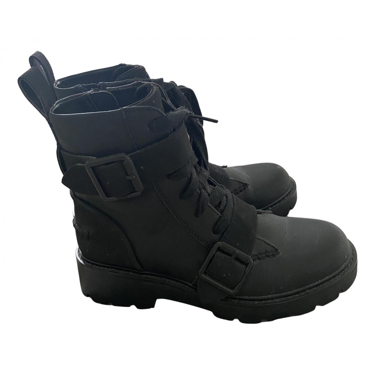 Ugg \N Stiefel in  Schwarz Leder