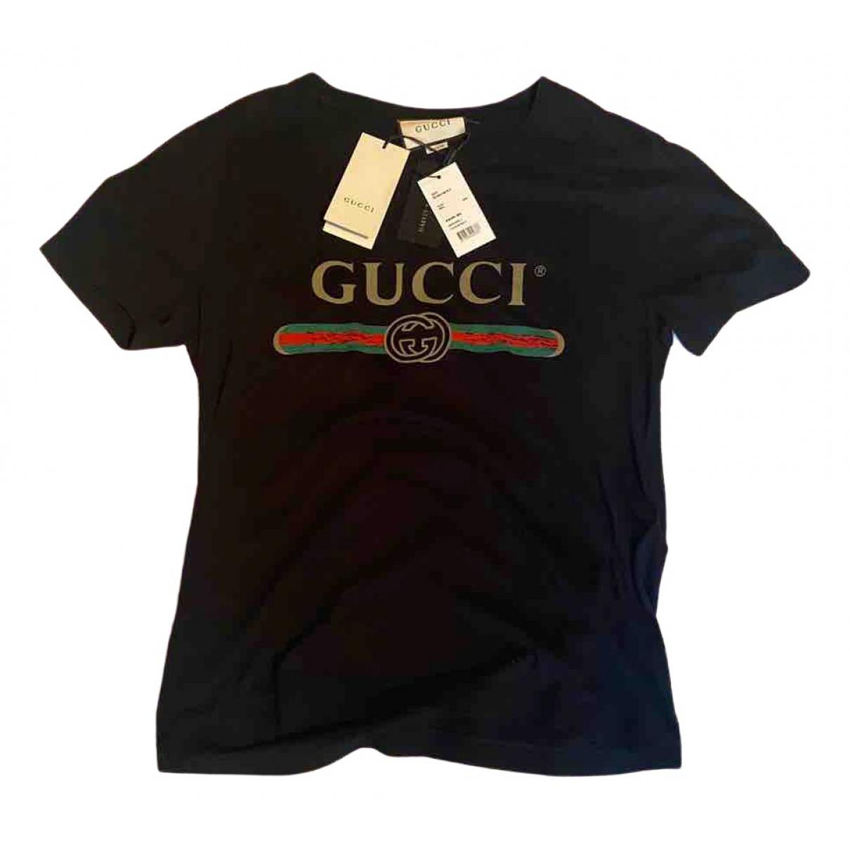 Gucci \N Black Cotton T-shirts for Men S International