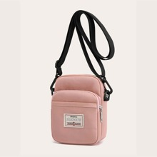 Letter Patch Crossbody Bag
