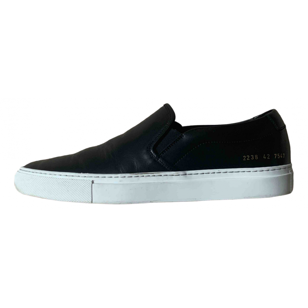 Common Projects \N Black Leather Trainers for Men 42 EU