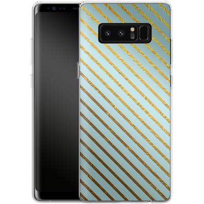 Samsung Galaxy Note 8 Silikon Handyhuelle - Gold Foil Stripe von Khristian Howell