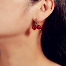 Cherry Design Drop Earrings