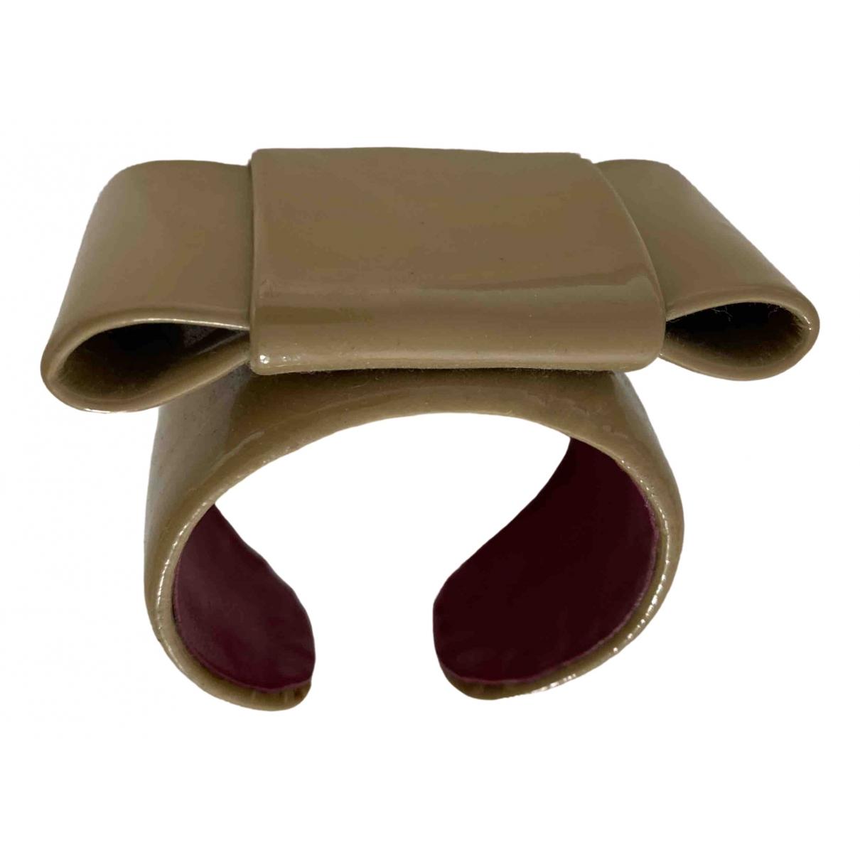 Miu Miu - Bracelet   pour femme en cuir - beige