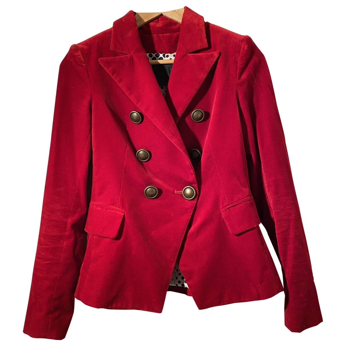 Non Signé / Unsigned \N Red Velvet jacket for Women 38 IT