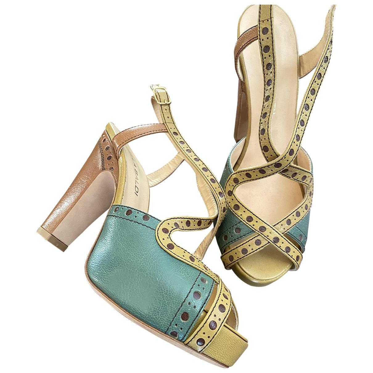 Lella Baldi - Sandales   pour femme en cuir - multicolore