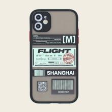 1pc Air Ticket Print iPhone Case