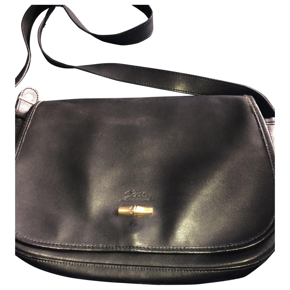 Longchamp \N Handtasche in  Marine Leder