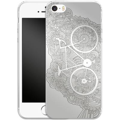 Apple iPhone 5s Silikon Handyhuelle - Bike Drawing Meditation von Kaitlyn Parker
