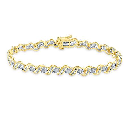 2 CT. T.W. Genuine Diamond 10K Gold 7.5 Inch Tennis Bracelet, One Size , No Color Family