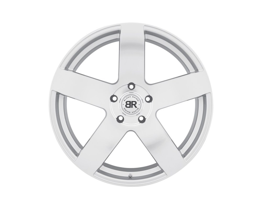 Black Rhino Everest Silver w/ Mirror Cut Face Wheel 20x9 5x150 25mm CB110