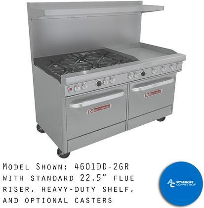 4361C1G Ultimate Range Series 36 Gas Range with Four Standard Non-Clog Burners  One Manual Griddle  and Standard Cast Iron Grates  Up to 150000 BTUs