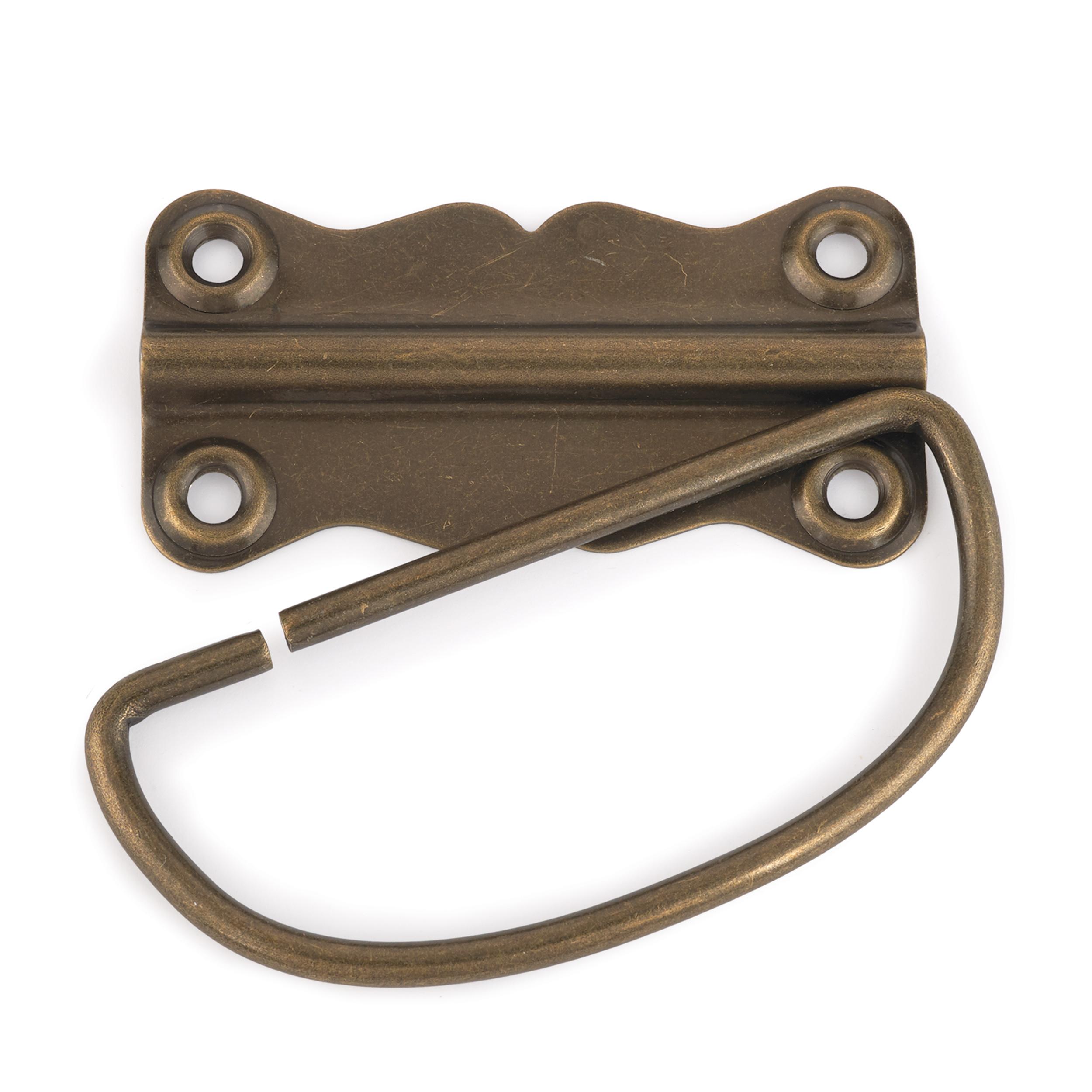 Chest Handle Antique Brass 1-piece with Screws
