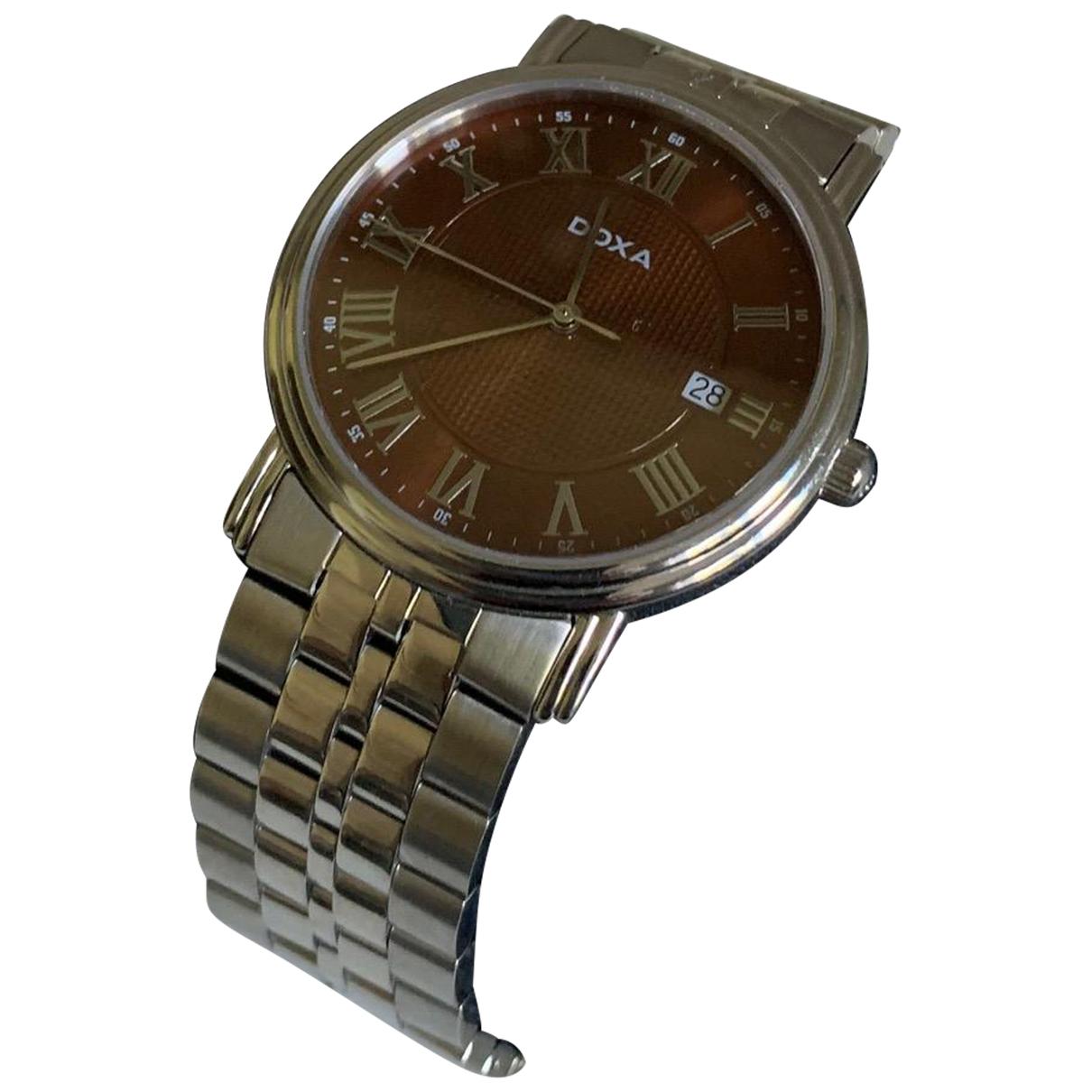Doxa \N Brown Steel watch for Men \N