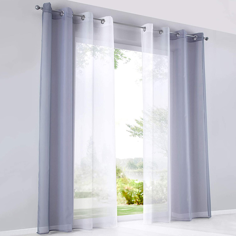 Color Gradient Translucidus Sheer Curtains for Living Room Bedroom Breathable Voile Drapes No Pilling No Fading No off-lining