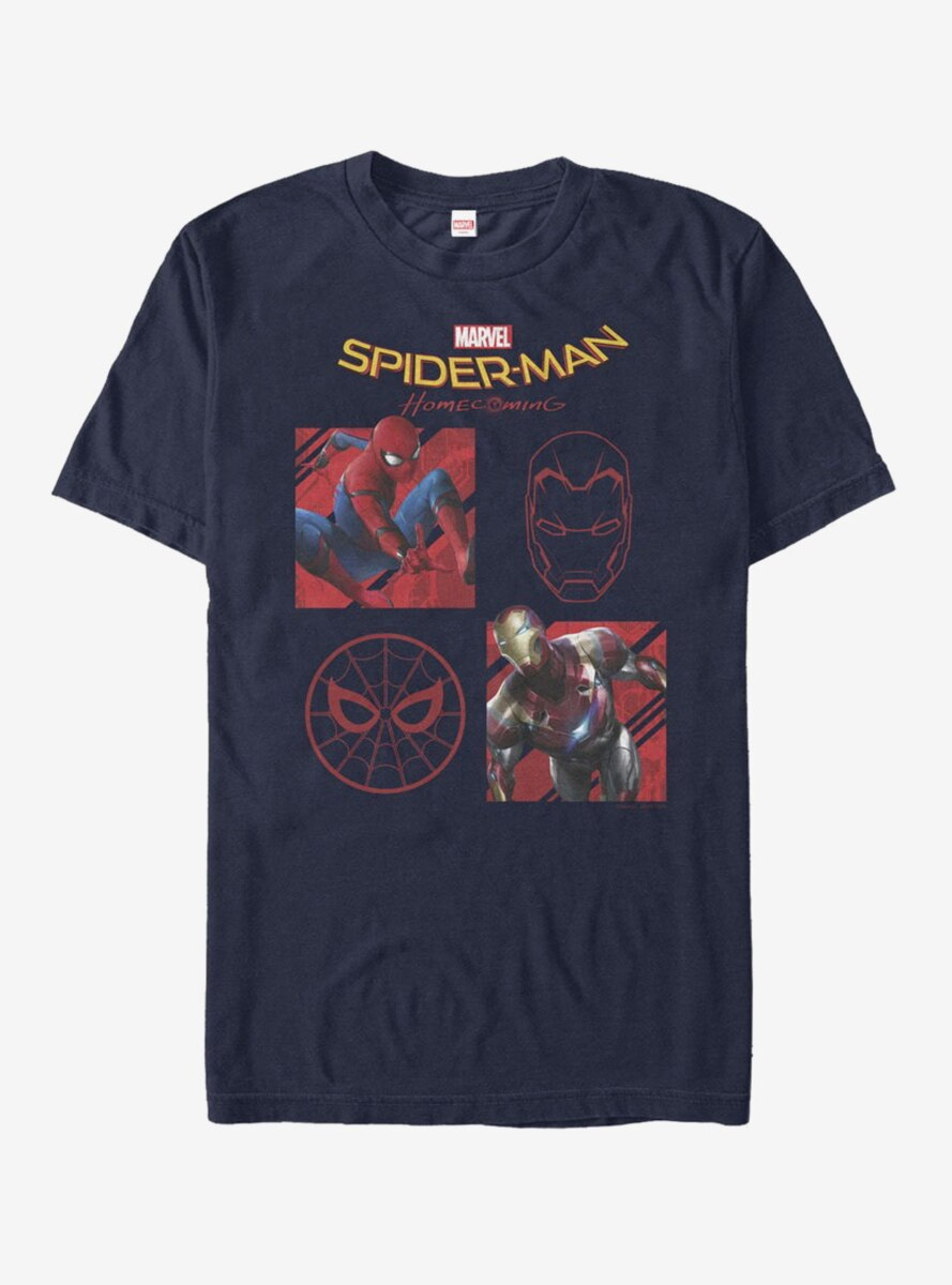 Marvel Spider-Man Homecoming Four Square T-Shirt