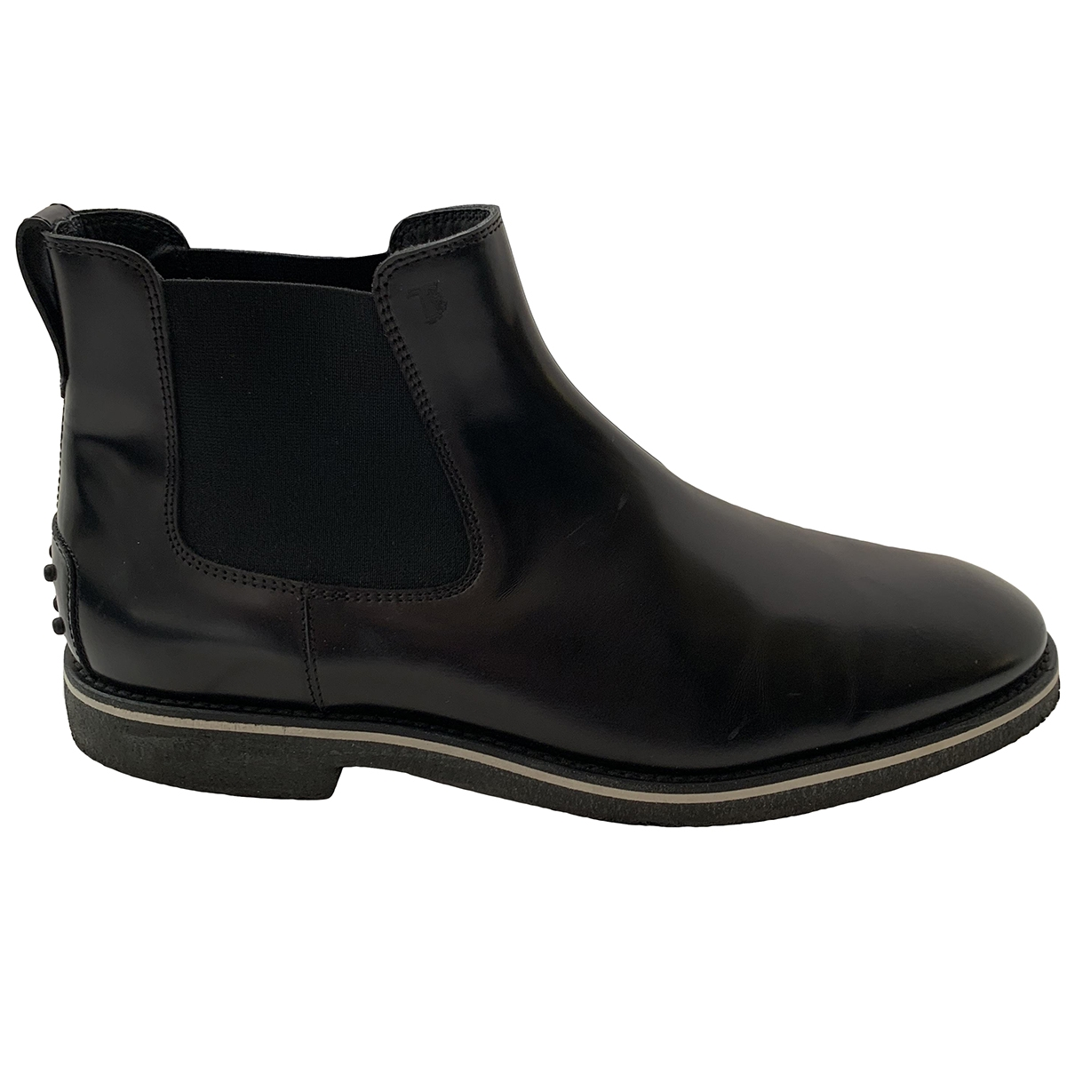 Tod's \N Black Leather Boots for Men 9.5 UK