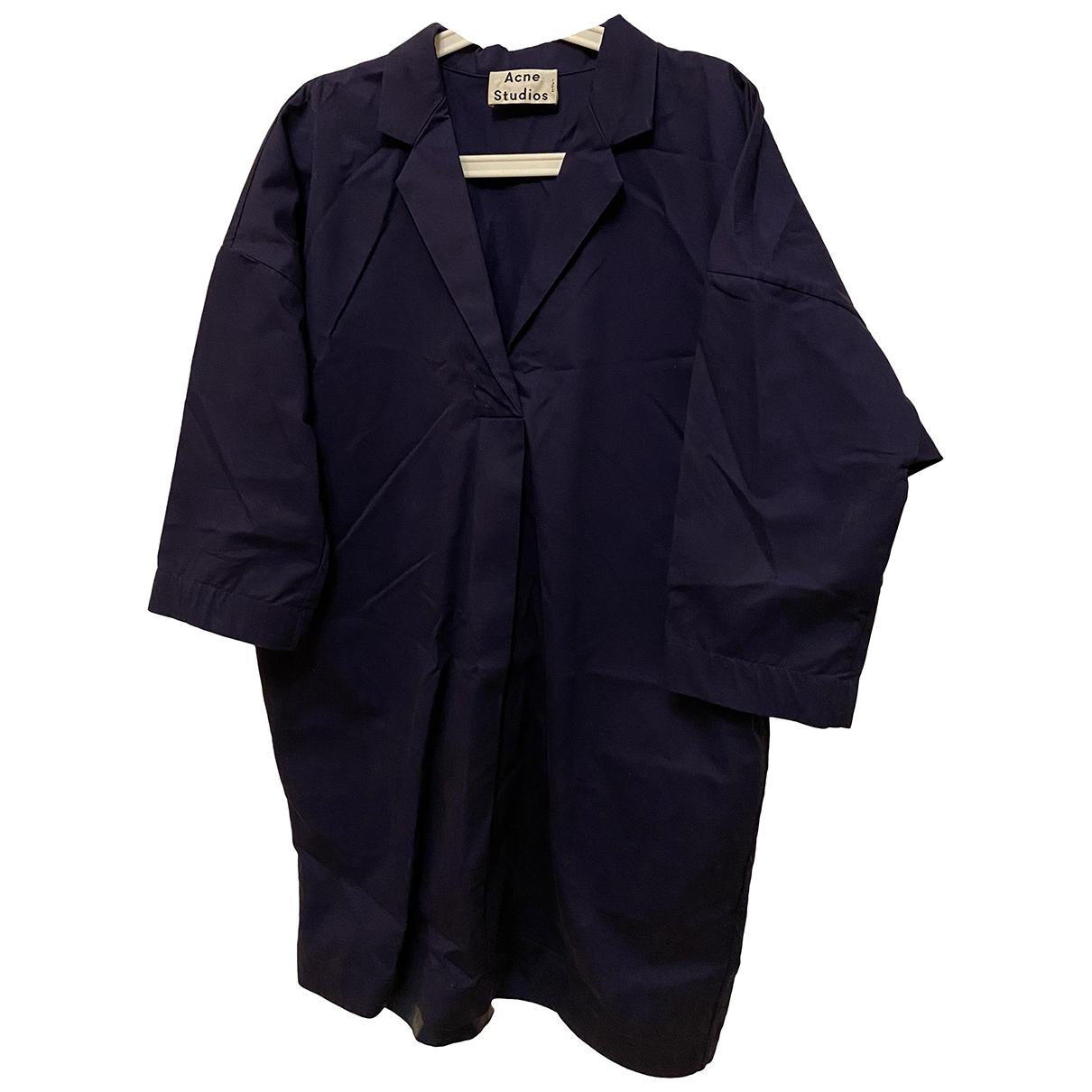 Acne Studios - Robe   pour femme en coton - violet