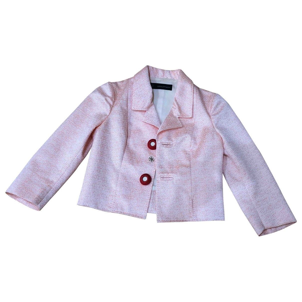 Dsquared2 \N Pink Silk jacket for Women 42 IT