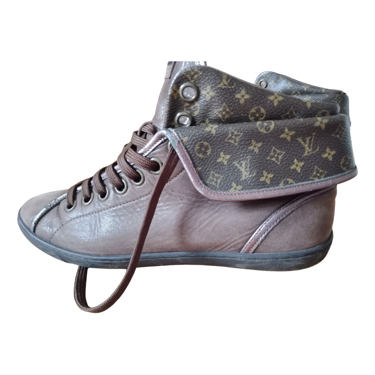 Louis Vuitton \N Brown Leather Trainers for Women 37.5 EU