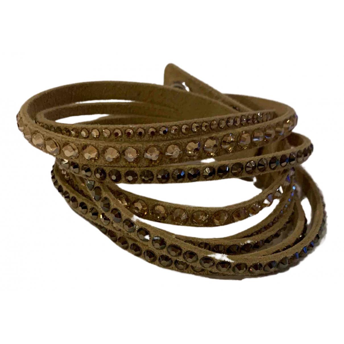 Swarovski - Bracelet Slake pour femme en cuir - beige