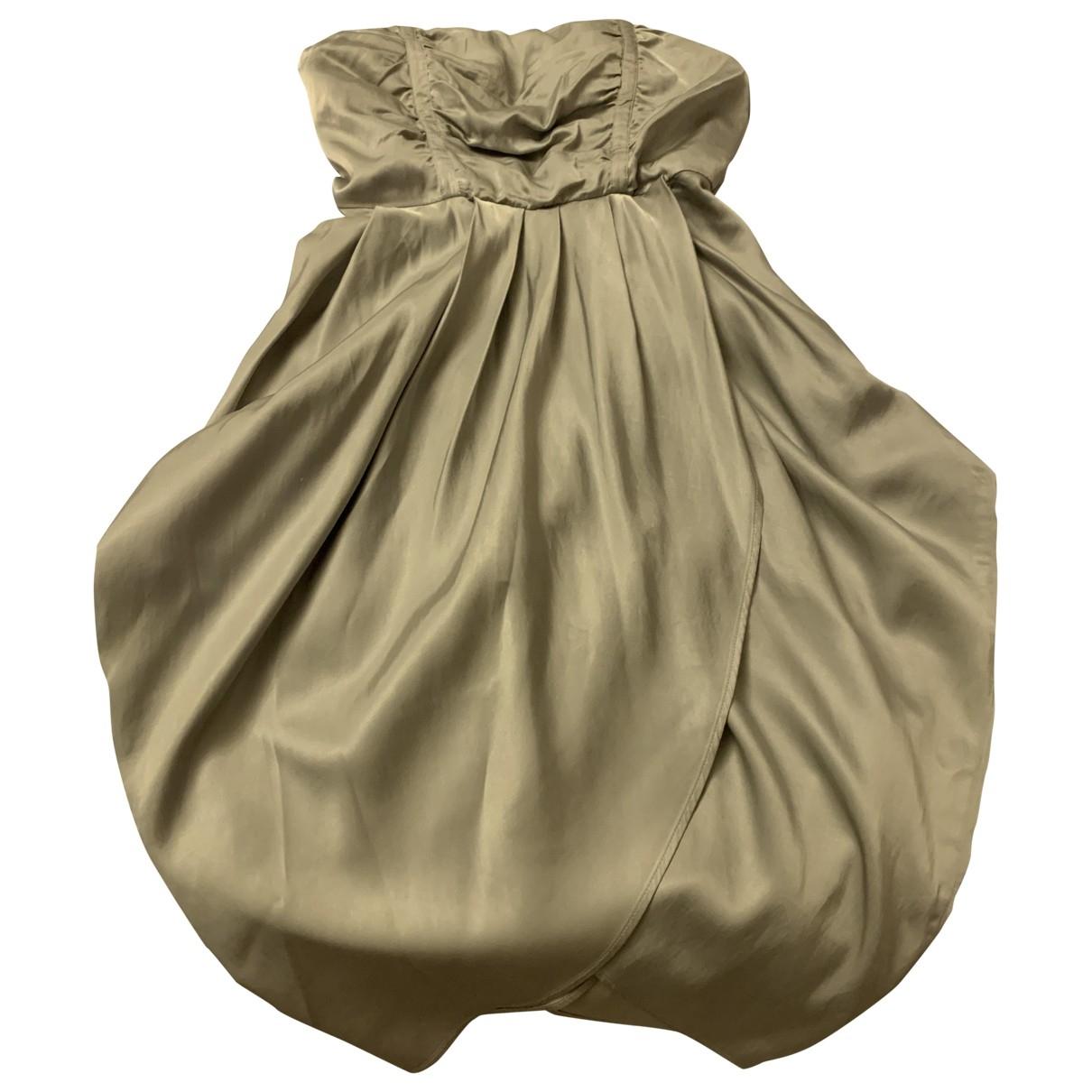 Mcq \N Kleid in  Silber Seide