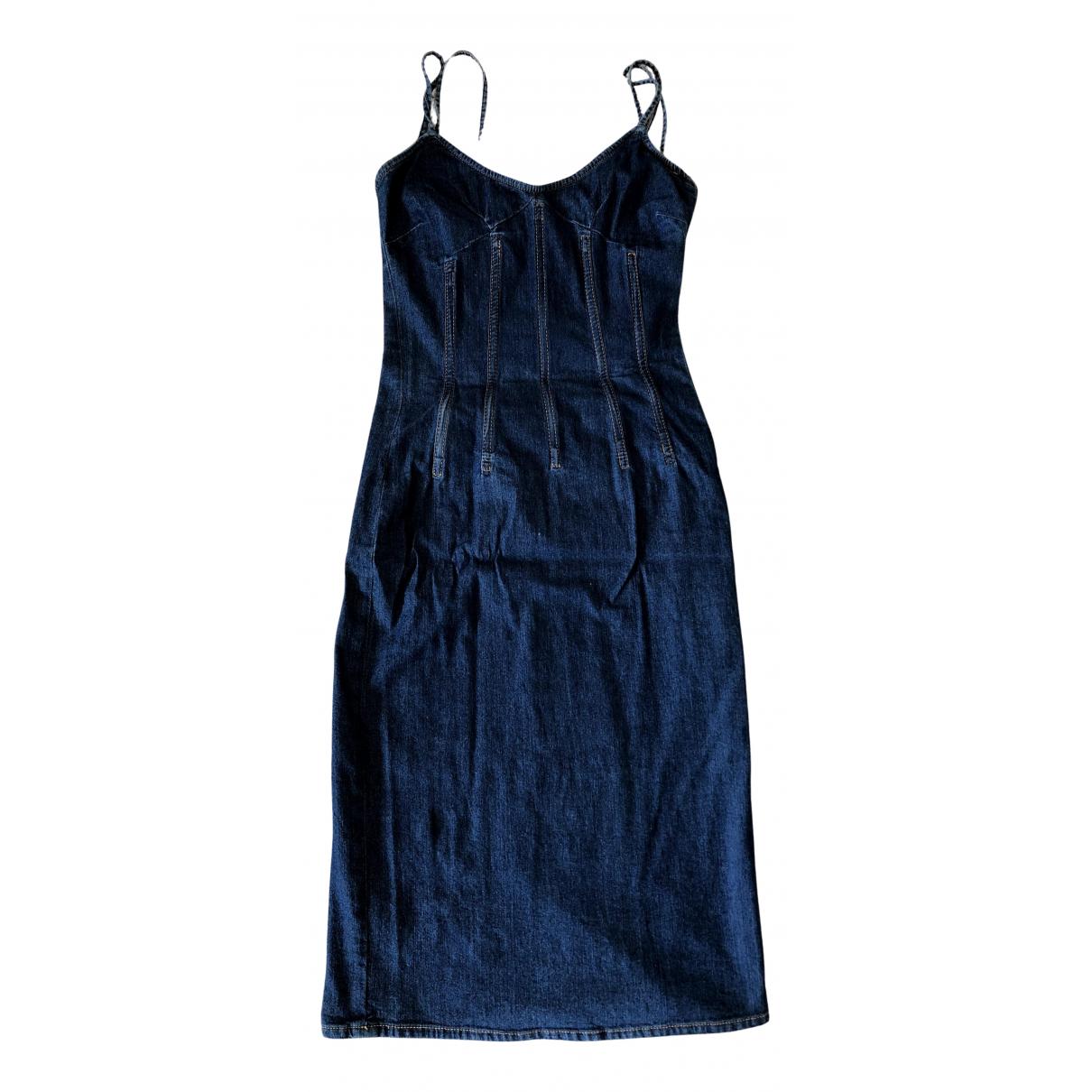 D&g - Robe   pour femme en coton - bleu