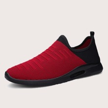 Zapatillas deportivas sin cordones de dos colores de hombres