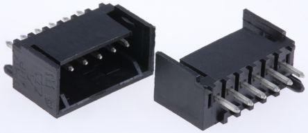 TE Connectivity , MTA-100, 6 Way, 1 Row, Right Angle PCB Header (5)
