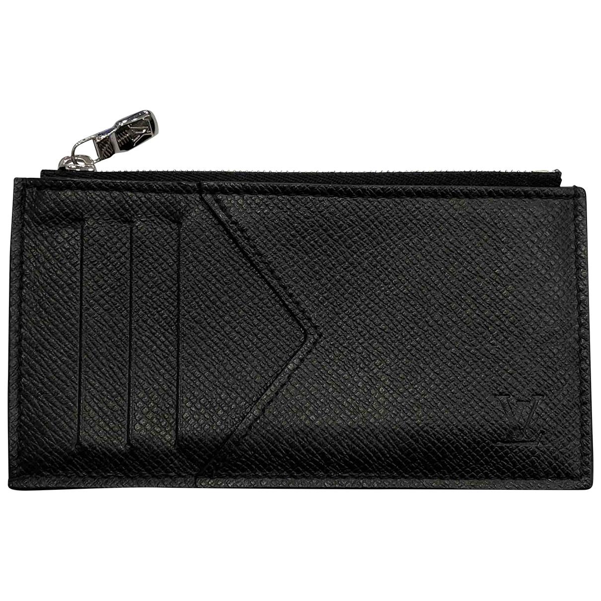 Louis Vuitton - Petite maroquinerie  Coin Card Holder pour homme en cuir - noir