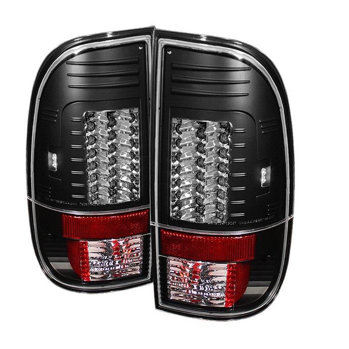 Spyder Version 2 LED Black Tail Lights Ford F250 350 450 550 Super Duty 08-09
