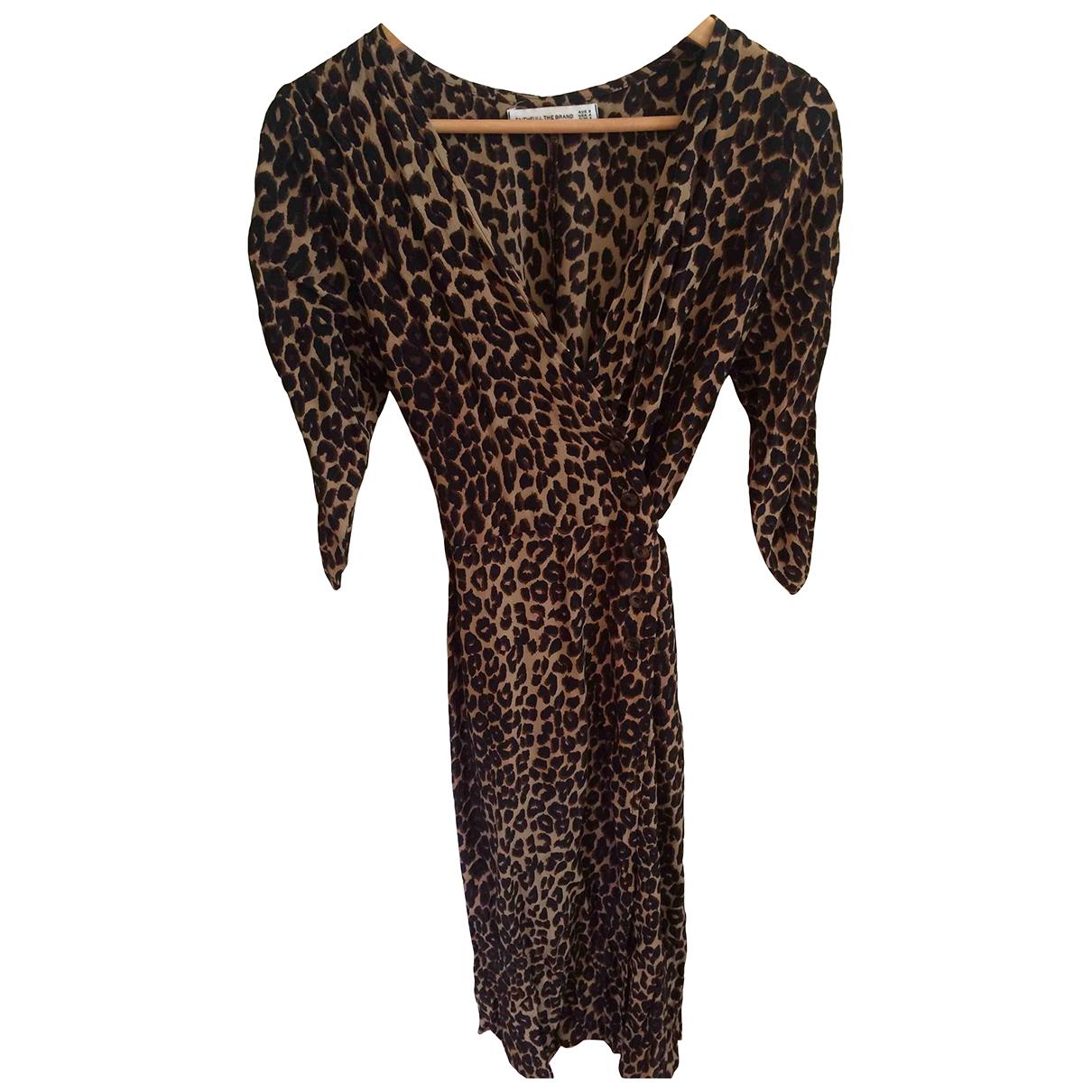 Faithfull The Brand \N Kleid in  Beige Polyester