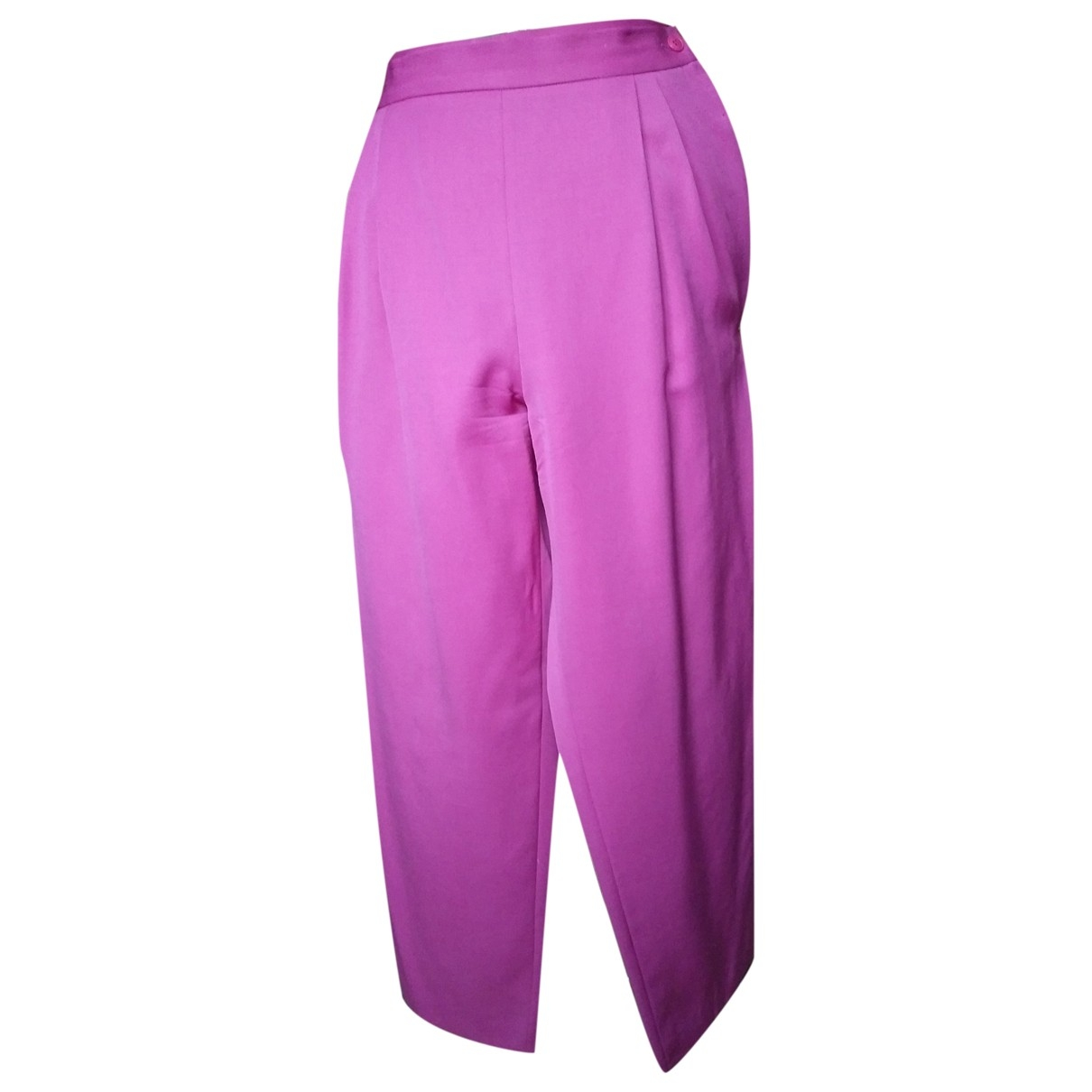Dior \N Pink Wool Trousers for Women 46 FR