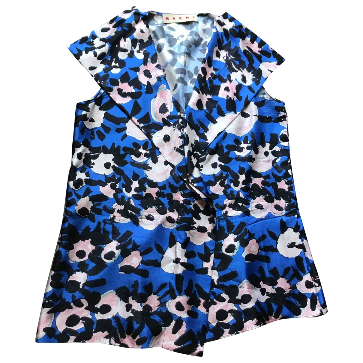 Marni \N Blue Silk  top for Women 44 IT