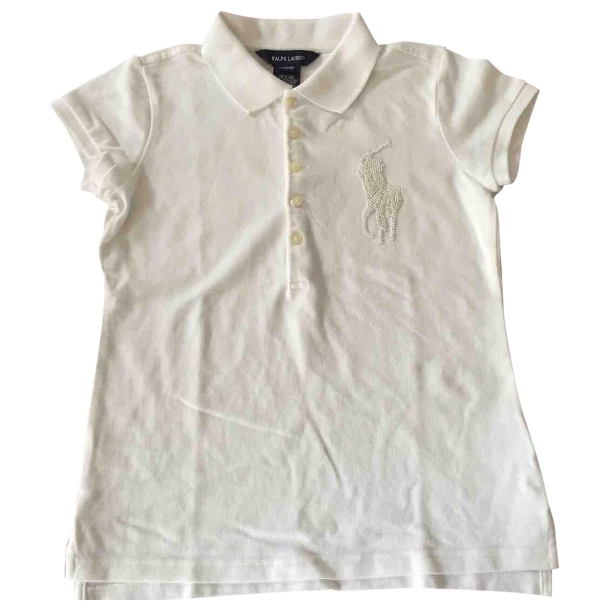 Ralph Lauren \N Kleid in  Weiss Baumwolle