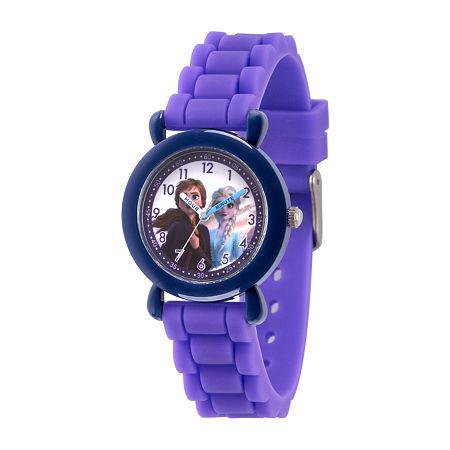 Disney Frozen Girls Purple Strap Watch-Wds000810, One Size , No Color Family