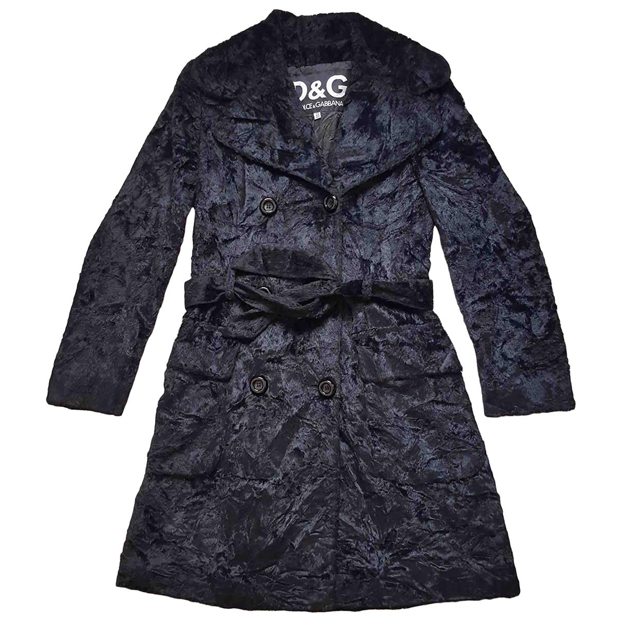 D&g - Manteau   pour femme en coton - noir