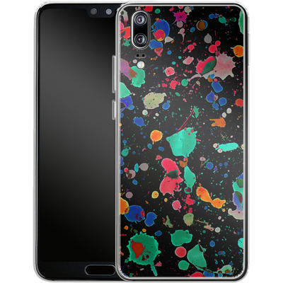 Huawei P20 Silikon Handyhuelle - Colourful Splatter von Amy Sia