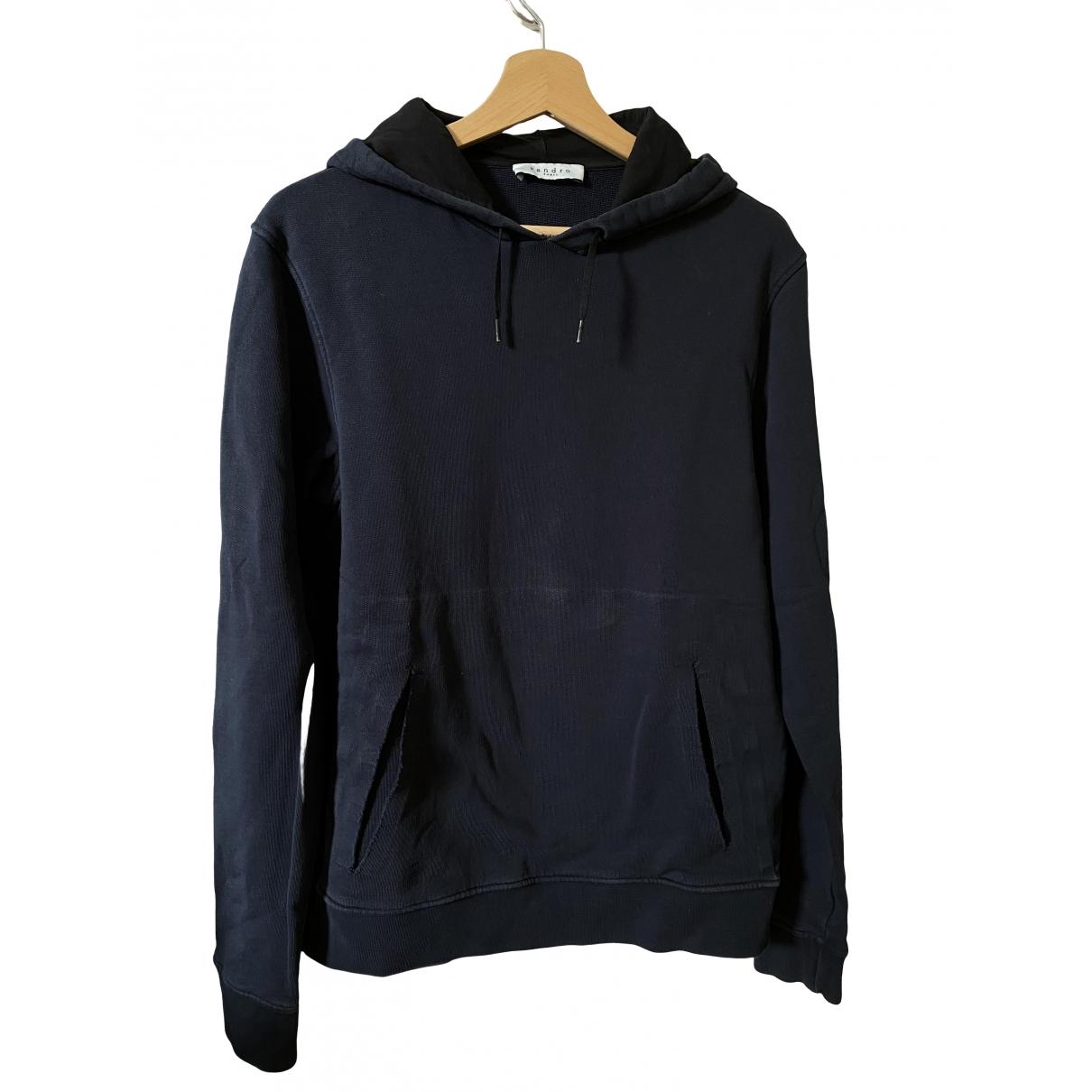 Sandro \N Pullover.Westen.Sweatshirts  in  Marine Baumwolle