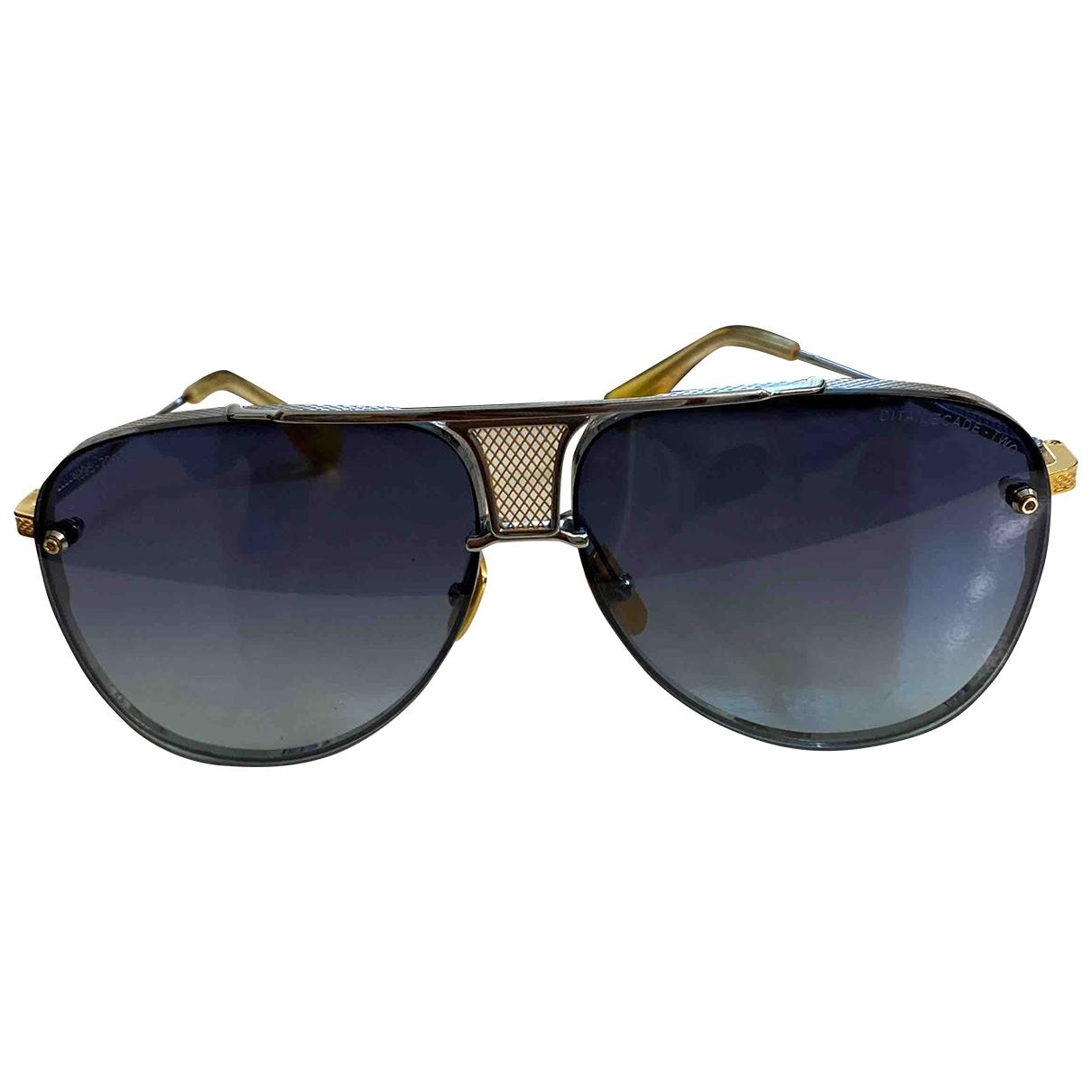 Dita \N Metallic Metal Sunglasses for Men \N