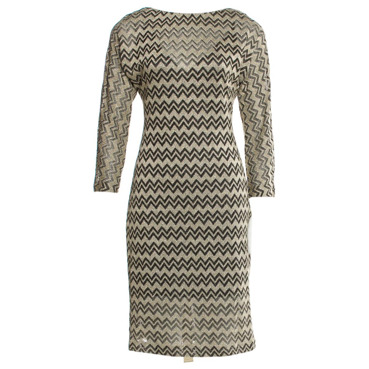M Missoni N Gold dress for Women 44 IT