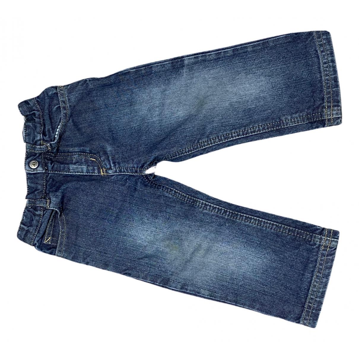Petit Bateau - Pantalon   pour enfant en denim - bleu
