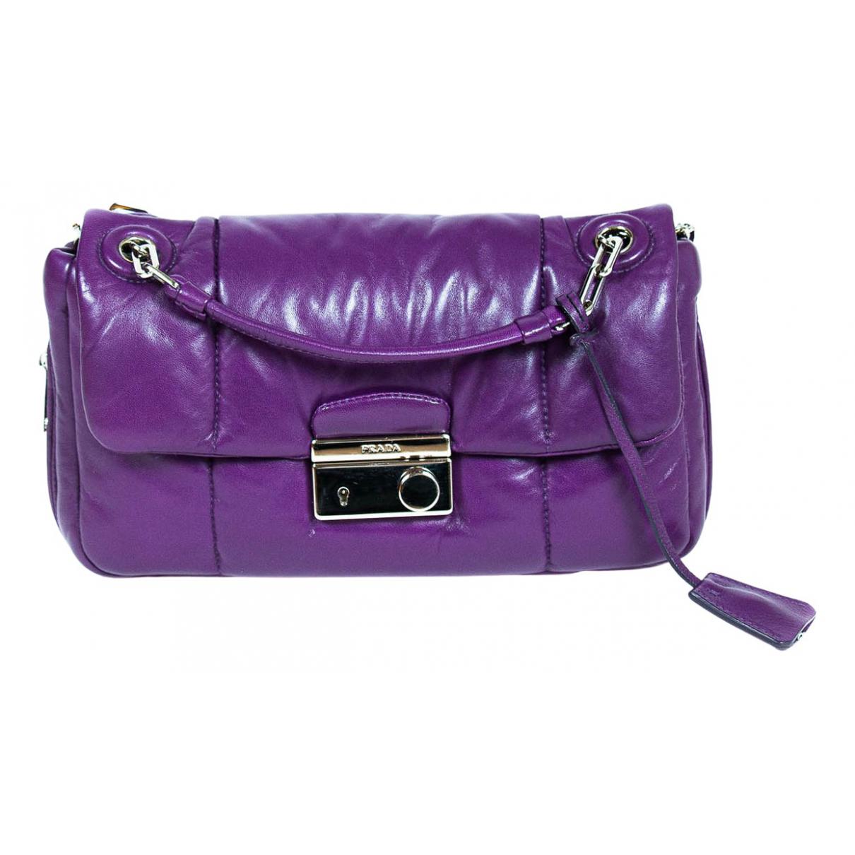 Prada \N Purple Leather Clutch bag for Women \N