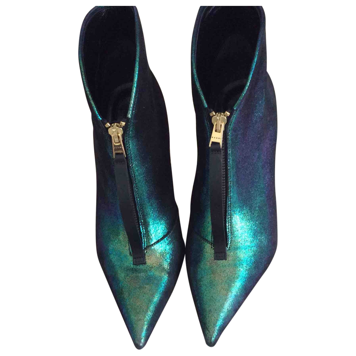 Marni \N Metallic Leather Ankle boots for Women 38 EU