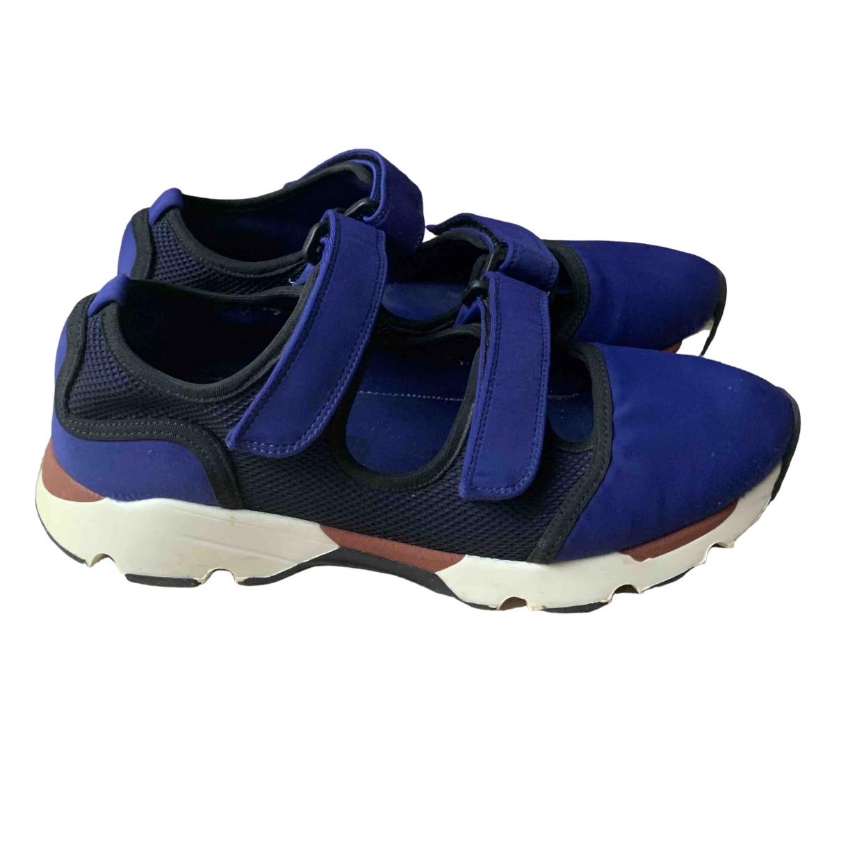 Marni \N Sneakers in  Blau Polyester