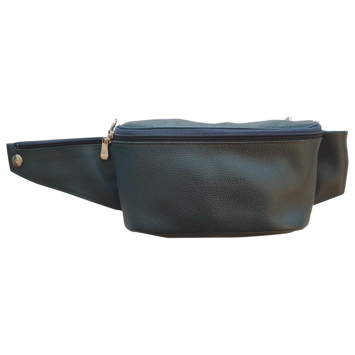 Longchamp \N Navy Leather Small bag, wallet & cases for Men \N
