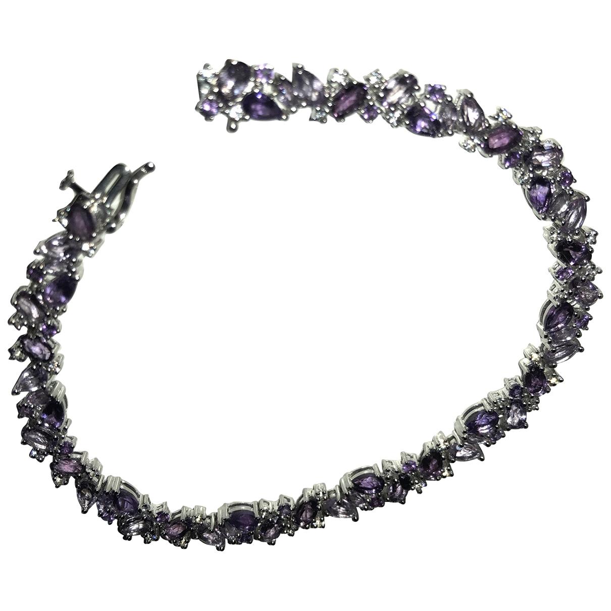 - Bracelet Amethyste pour femme en argent - violet
