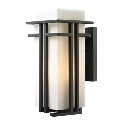45087/1 Croftwell Collection 1 Light outdoor Sconce in Textured Matte