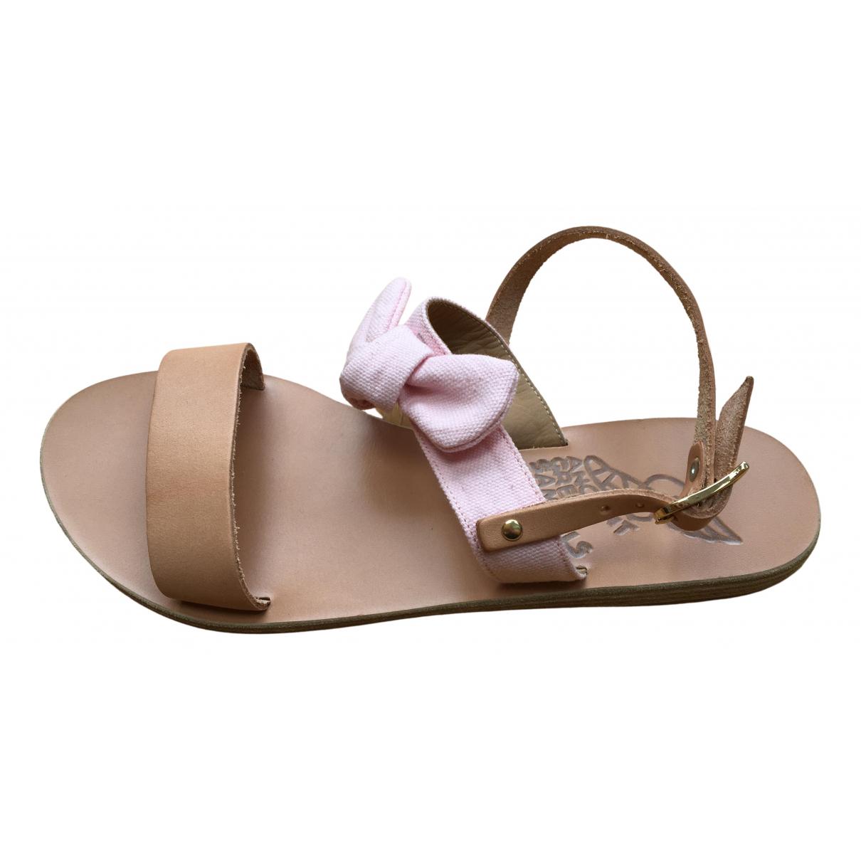 Ancient Greek Sandals \N Beige Leather Sandals for Women 37 EU