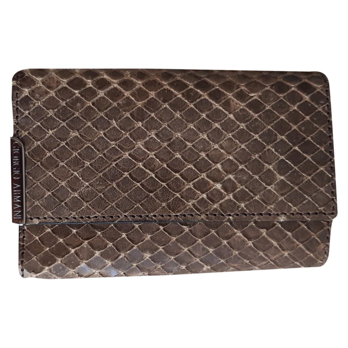 Giorgio Armani \N Beige Python Small bag, wallet & cases for Men \N