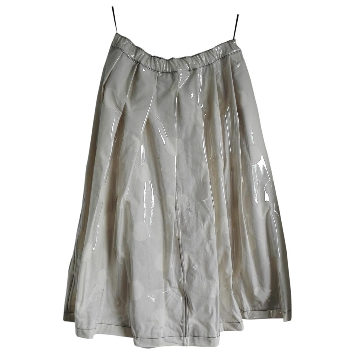 Comme Des Garcons \N Ecru Cotton skirt for Women S International